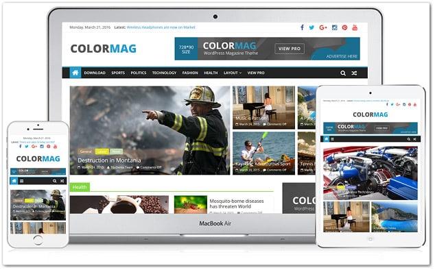 ucretsiz wordpress temalari colormag